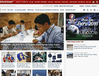 Main page screenshot of vietnamplus.vn