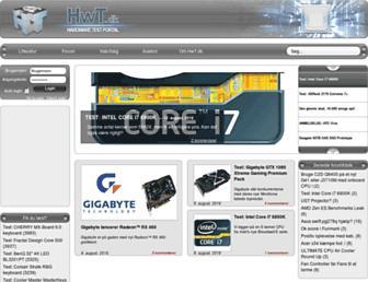 Main page screenshot of hwt.dk