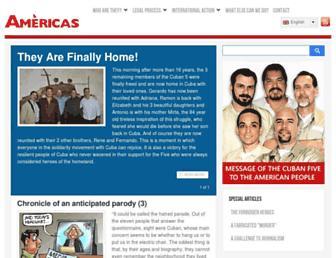 Main page screenshot of antiterroristas.cu