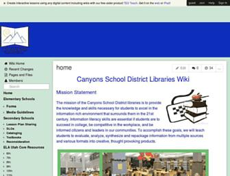 csdlibrary.wikispaces.com screenshot
