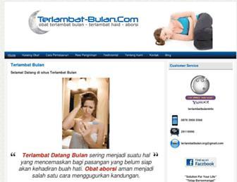 terlambat-bulan.com screenshot