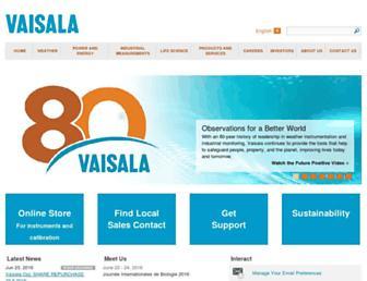 vaisala.com screenshot