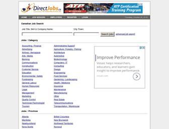Main page screenshot of directjobs.ca