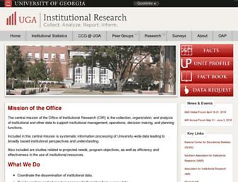 oir.uga.edu screenshot