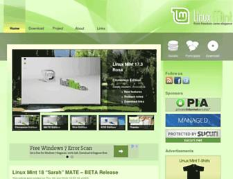 Thumbshot of Linuxmint.com