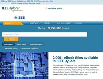 Main page screenshot of ieeexplore.ieee.org