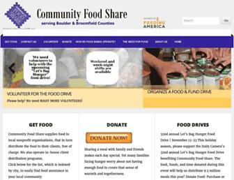 communityfoodshare.org screenshot