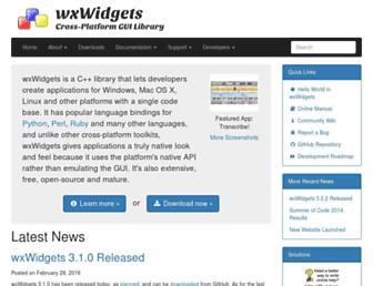 wxwidgets.org screenshot