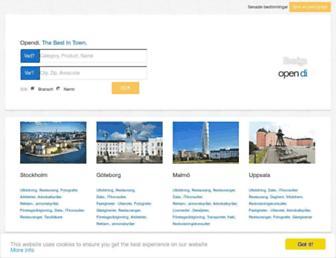 Main page screenshot of opendi.se