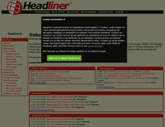 Main page screenshot of headliner.nl
