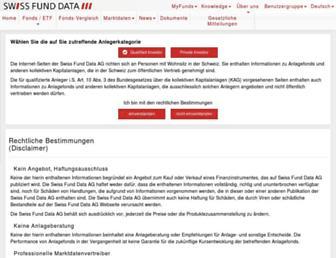 swissfunddata.ch screenshot