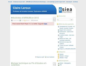 Main page screenshot of professeurs.esiea.fr