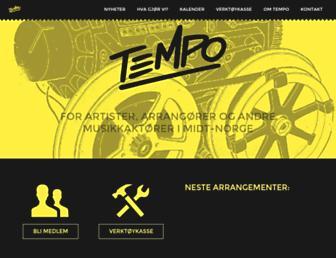 Main page screenshot of tmpo.no