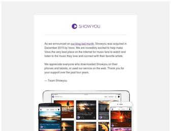 showyou.com screenshot