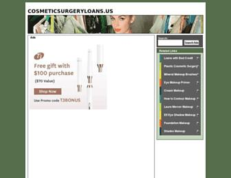 cosmeticsurgeryloans.us screenshot