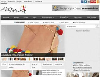 aktifmoda.com screenshot