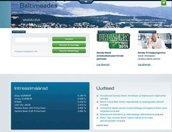 Main page screenshot of danskebank.ee