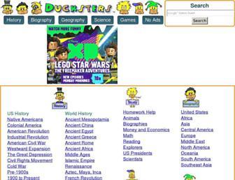 ducksters.com screenshot