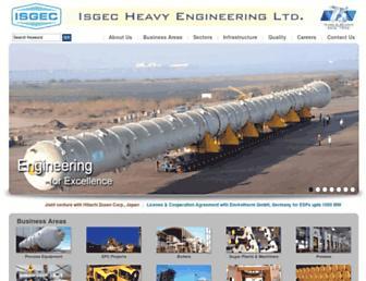 isgec.com screenshot