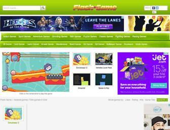 Main page screenshot of flash-game.net