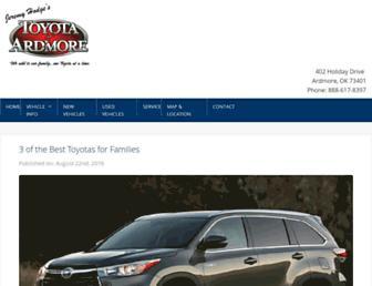 news.toyotaofardmore.com screenshot