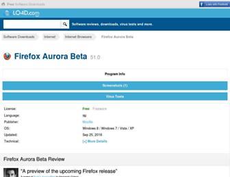 firefox-aurora-beta.en.lo4d.com screenshot