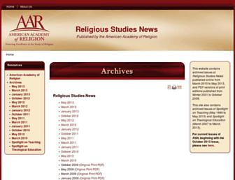 Main page screenshot of rsnonline.org