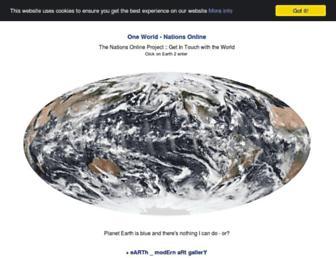 Main page screenshot of nationsonline.org