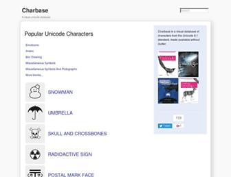 charbase.com screenshot