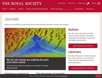 royalsocietypublishing.org screenshot