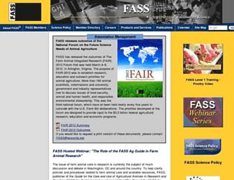 Main page screenshot of fass.org