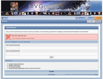 Main page screenshot of mvgroup.org