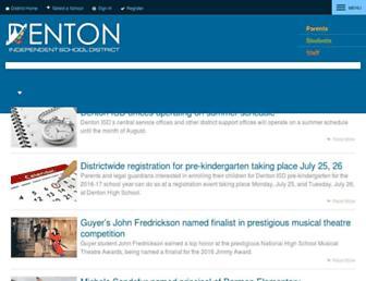dentonisd.org screenshot