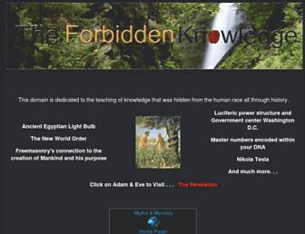 Thumbshot of Theforbiddenknowledge.com