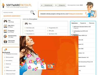 Main page screenshot of softwarepatch.pl