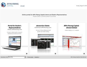 einvest.affinhwang.com screenshot