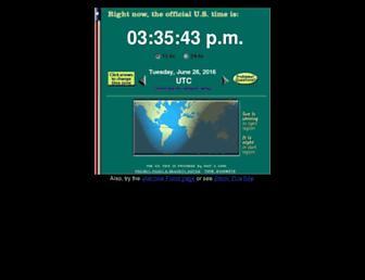 Fullscreen thumbnail of time.gov