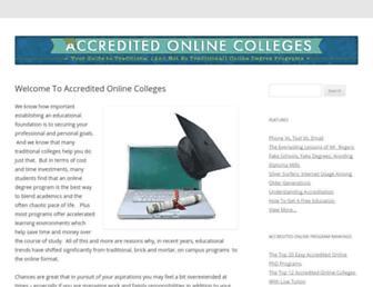 accredited-online-college.org screenshot