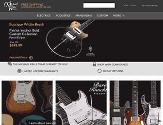 michaelkellyguitars.com screenshot
