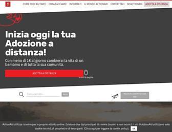 Main page screenshot of actionaid.it