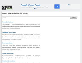 allservicecenters.com screenshot