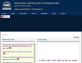 acoe.annauniv.edu screenshot