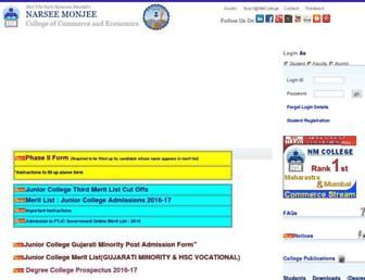 nmcollege.in screenshot
