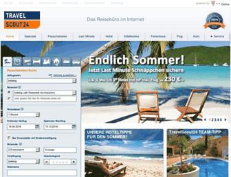 Main page screenshot of travelscout24.de
