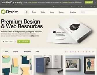pixeden.com screenshot