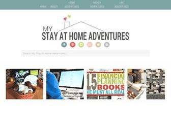 mystayathomeadventures.com screenshot