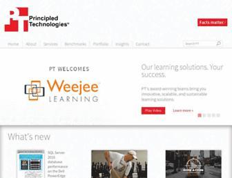 principledtechnologies.com screenshot