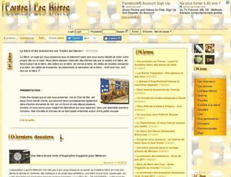 Main page screenshot of touteslesbieres.fr