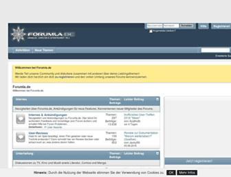 forumla.de screenshot