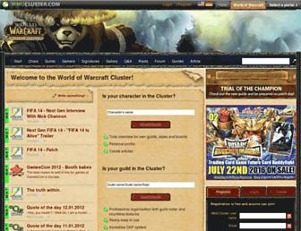 worldofwarcraft.mmocluster.com screenshot